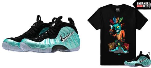 aa2158128b5 shirts to match foamposite aqua dark obsidian foam tee shirts