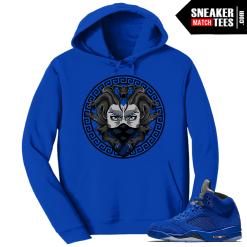 Jordan 5 Blue Suede Hoodie Match Sneakers