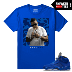 Jordan 5 Blue Suede Sneaker t shirt