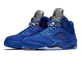 Jordan 5 Blue Suede Sneakers