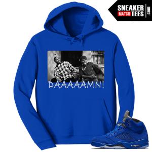 Jordan 5 Blue Suede Sweater to match