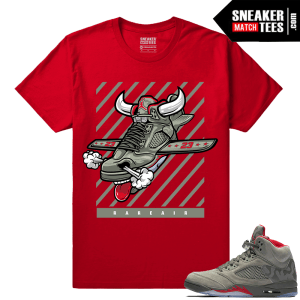 Jordan 5 Camo Fly Kicks T shirt