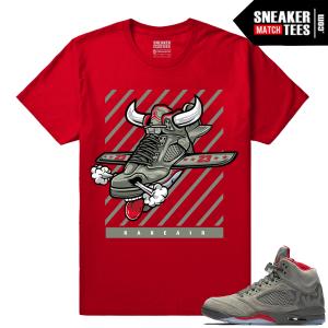Jordan 5 Camo Fly Kicks T shirt