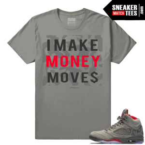 Jordan 5 Camo Make Money Moves Streetwear