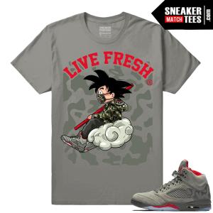 Jordan 5 Camo Shirt matching sneakers