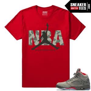 Jordan 5 Camo Shirts to match Sneakers