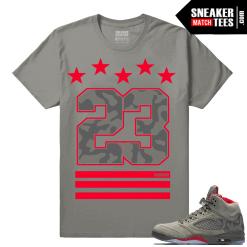 Jordan 5 Camo Sneaker Shirts to match