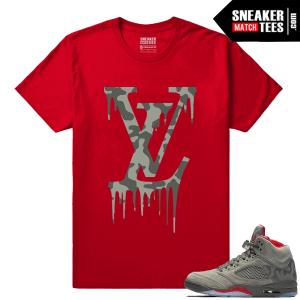 Jordan 5 Camo Sneaker Streetwear tees
