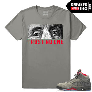 Jordan 5 Camo Trust No One T shirt