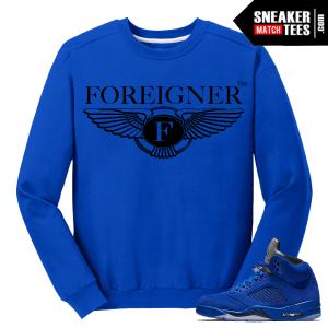 Jordan 5 Sweatshirt Blue Suede 5