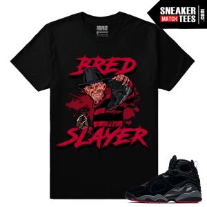 Jordan 8 Bred Slayer Streetwear T shirt