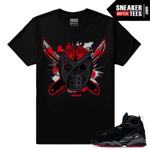 Jordan 8 Cement Bred Sneaker Tee Shirt