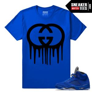 Jordan Retros Sneaker tees Blue Suede 5