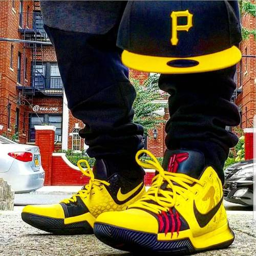 Nike Kyrie 3 Mamba Mentality Closeup On Feet Look