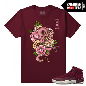 Air Jordan 12 Matching Shirt Bordeaux