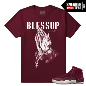 Air Jordan 12 Matching Shirts Bordeaux