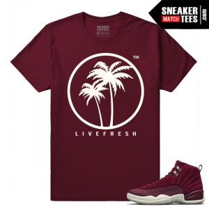 Bordeaux 12s Sneaker Tees Shirts