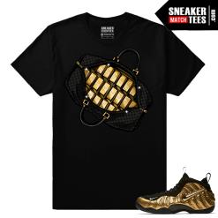 Gold Foamposites Designer Bag Black Sneaker tees