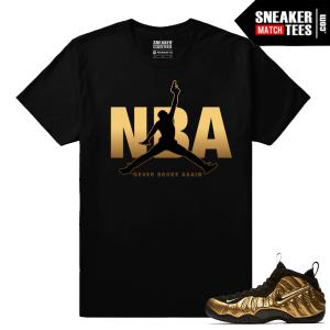 Gold Foamposites NBA Never Broke Again Black T shirt