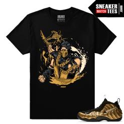 Gold Foamposites Scorpion Insta Cop Black T shirt