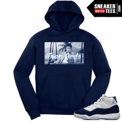 Jordan 11 Midnight Navy Hoodie Trap Gods Montana