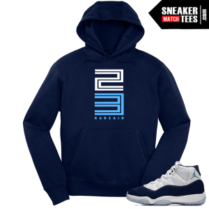 Jordan 11 Win Like 82 Rare Air 23 Navy Hoodie