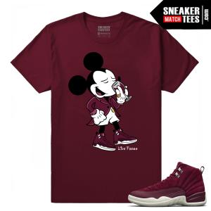 Jordan 12 Bordeaux Matching T-Shirt