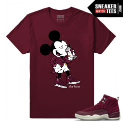 Jordan 12 Bordeaux Matching T-Shirt