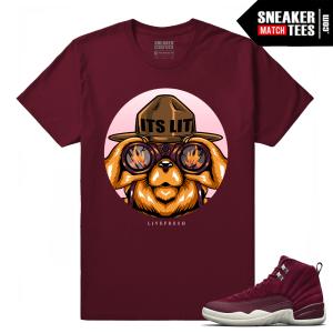 Jordan 12 Sneaker Shirt Bordeaux