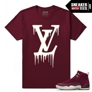 Jordan 12 Sneaker tees Bordeaux