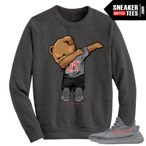 Beluga Yeezy Boost 350 V2 Crewneck Sweater Grey Dabbin Polo Bear