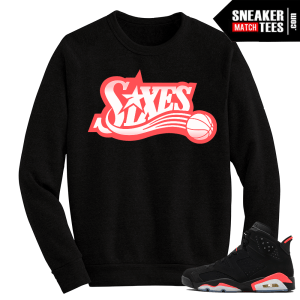 Infrared 6s Black Crewneck Sweater Sixes