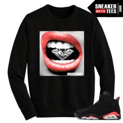 Infrared 6s Crewneck Sweater Diamond Lips