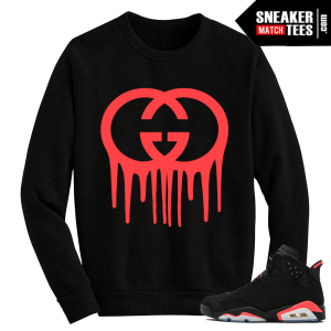 Infrared 6s matching Crewneck Sweater Gucci Drip