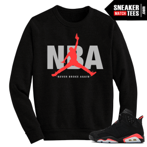 Infrared 6s matching crewneck sweater NBA