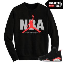 Infrared 6s matching crewneck sweater NBA