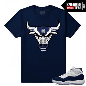 Jordan 11 Midnight Navy Bull 11s