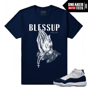 Jordan 11 Midnight Navy Sneaker tees Bless up