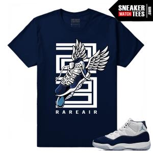 Jordan 11 Midnight Navy Sneaker tees Fly Kicks