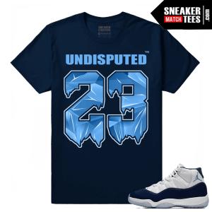 Jordan 11 Midnight Navy Sneaker tees Undisputed 23