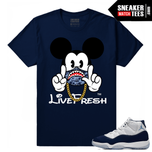 Jordan 11 Midnight Navy t shirt Elevens up