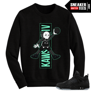 Kaws Jordan 4 Black Crewneck Sweater Jumpman Kaws