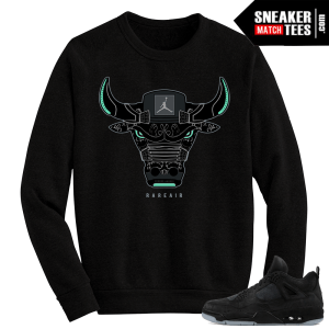 Kaws Jordan 4 Black Crewneck Sweater Rare Air Bull