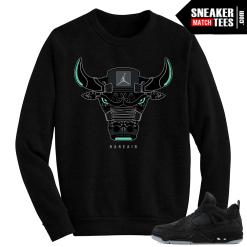 Kaws Jordan 4 Black Crewneck Sweater Rare Air Bull