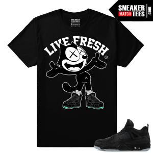 Kaws Jordan 4 Black Sneaker tees Kaws Felix the Cat