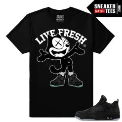 Kaws Jordan 4 Black Sneaker tees Kaws Felix the Cat