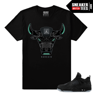 Kaws Jordan 4 Black T shirt Rare Air Bull