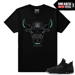 Kaws Jordan 4 Black T shirt Rare Air Bull