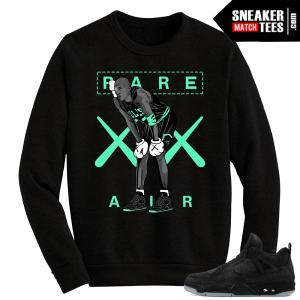 Kaws Jordan 4 black Crewneck Sweater MJ Kaws