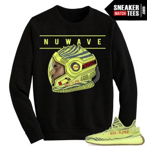 Yeezy Boost 350 V2 Semi Frozen Yellow Crewneck Sweater Nuwave